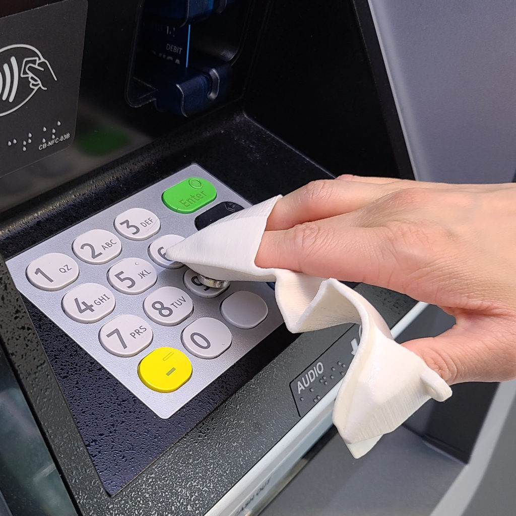 NONTACT PPE ATM buttons