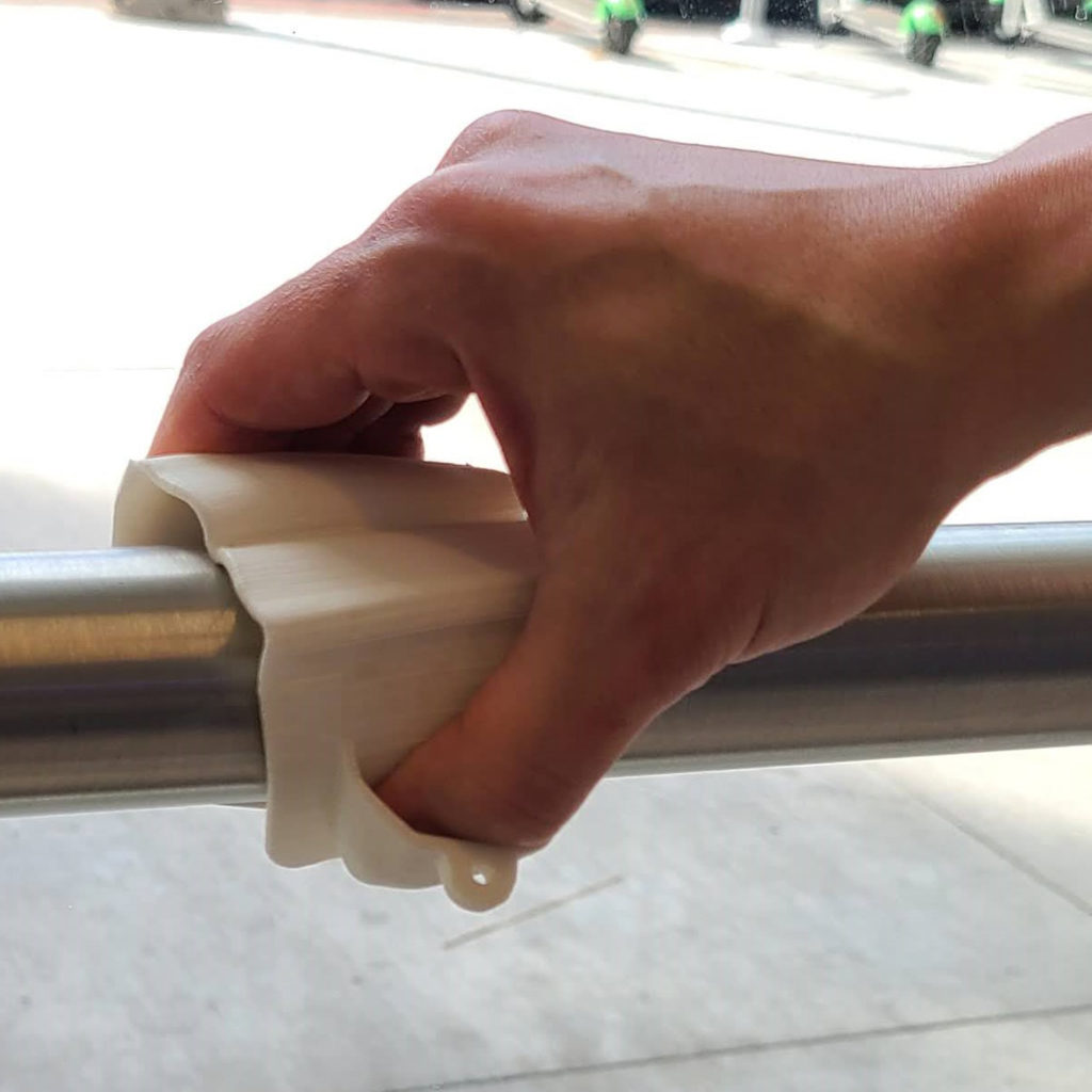 NONTACT PPE holding railing