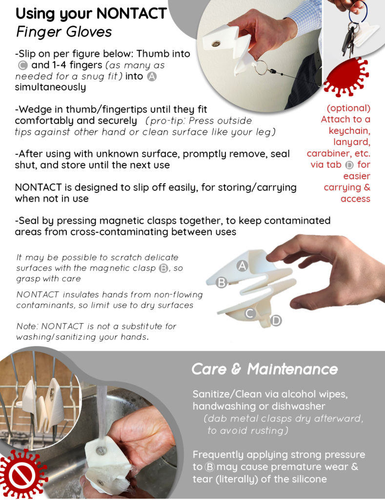 Hand PPE Use & Care instructions